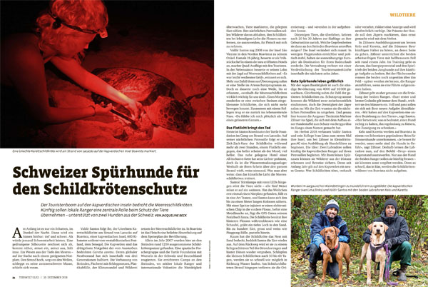 Article in Tierwelt 2018 51/52
