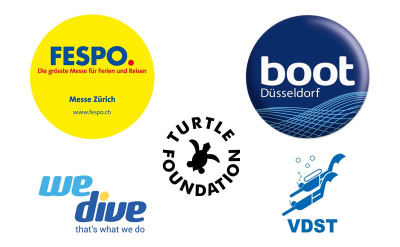 Logos FESPO, Boot, WeDive, VDST