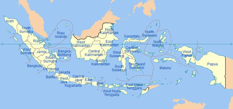 Map Indonesia, Wikipedia