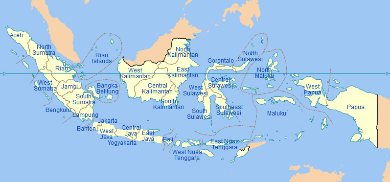 Map Indonesia, Wikipedia