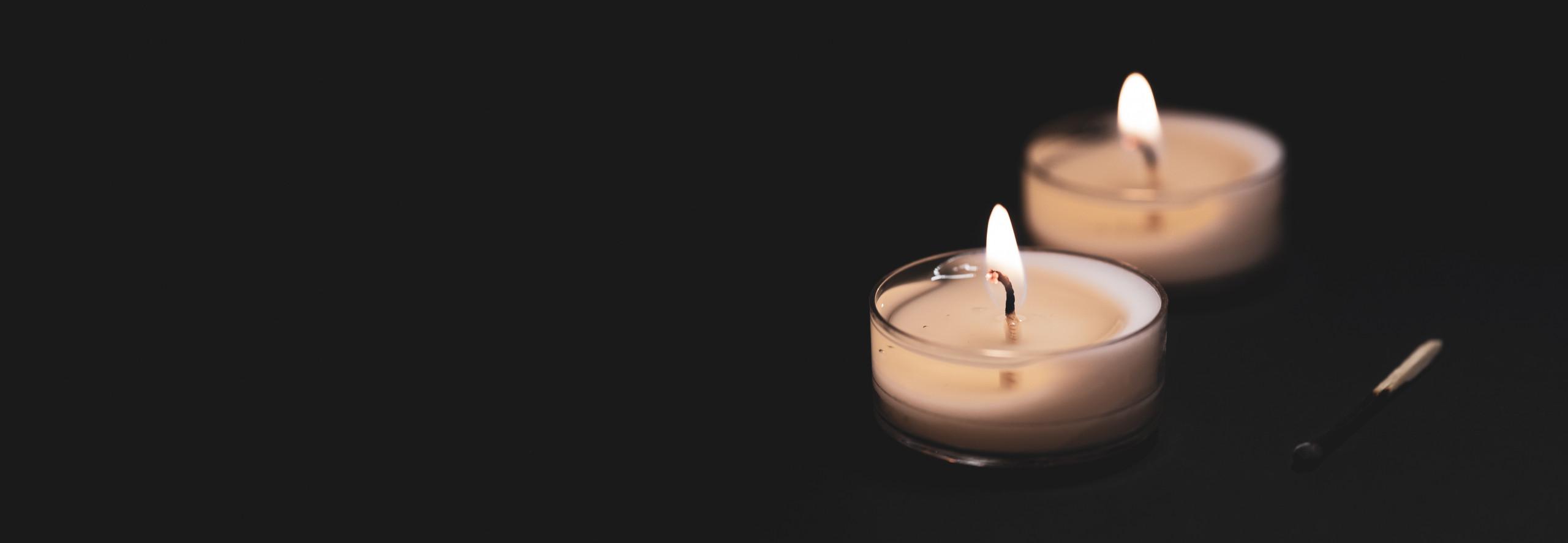 Kondolenzspende Kerzen