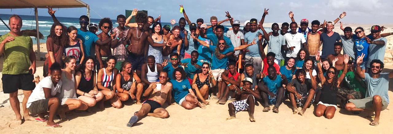 Als Unternehmen spenden: Freiwillige Helfer auf Boa Vista