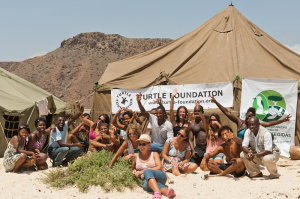 Turtle Foundation beach camp in the north of Boavista