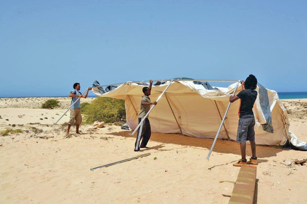 Lacacao camp setup 2016