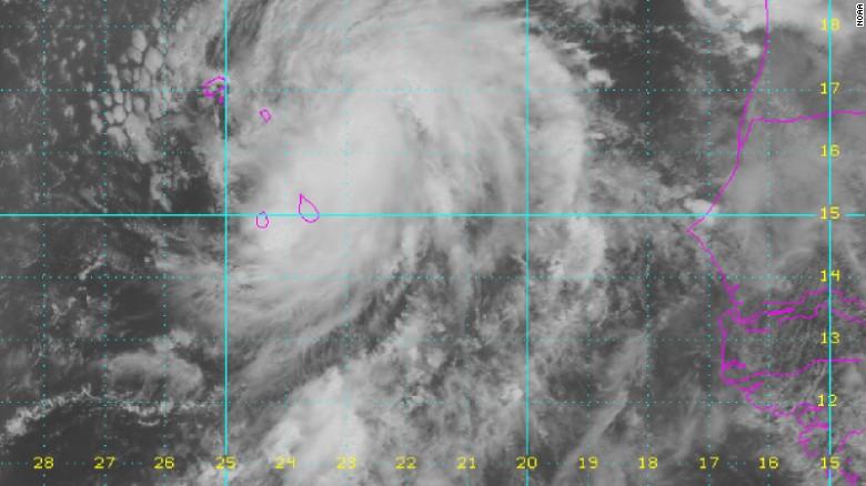 Hurricane Fred over Cape Verde