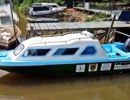 Neues Motorboot für das Schutzprojekt der Turtle Foundation auf den Derawan-Inseln