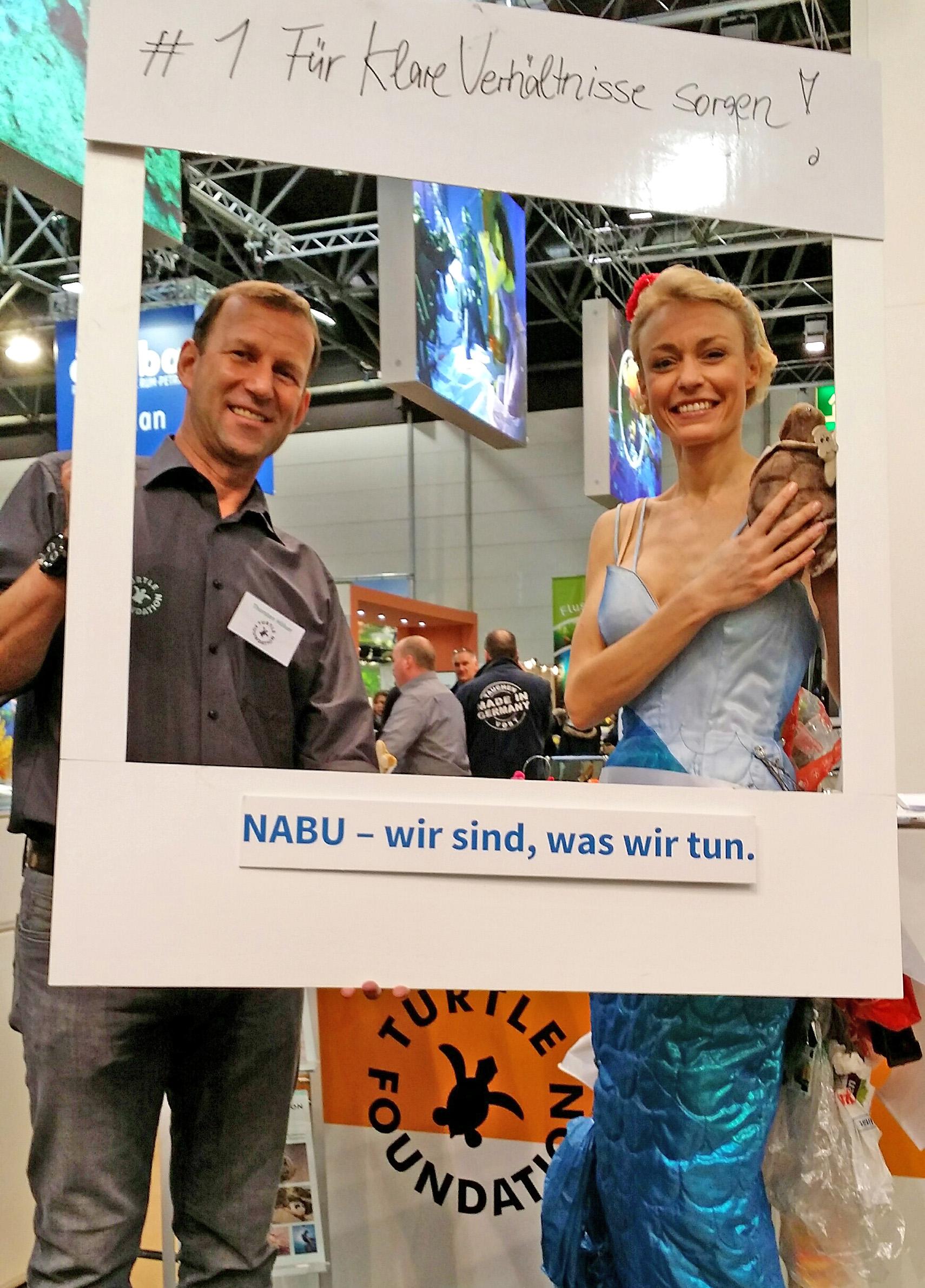 Thorsten Hölser and NABU on the booth of Turtle Foundation at Boot 2016