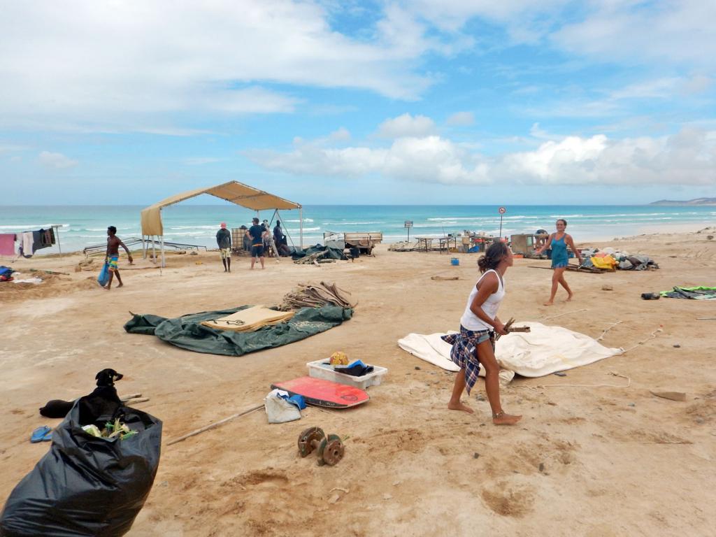 Camp Boa Esperanca during rebuild after Hurricane Fred