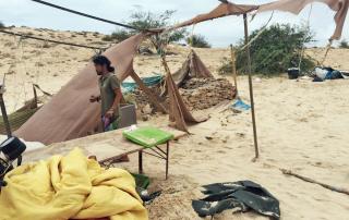 Boa Esperanca Camp after destruction by Hurricane Fred
