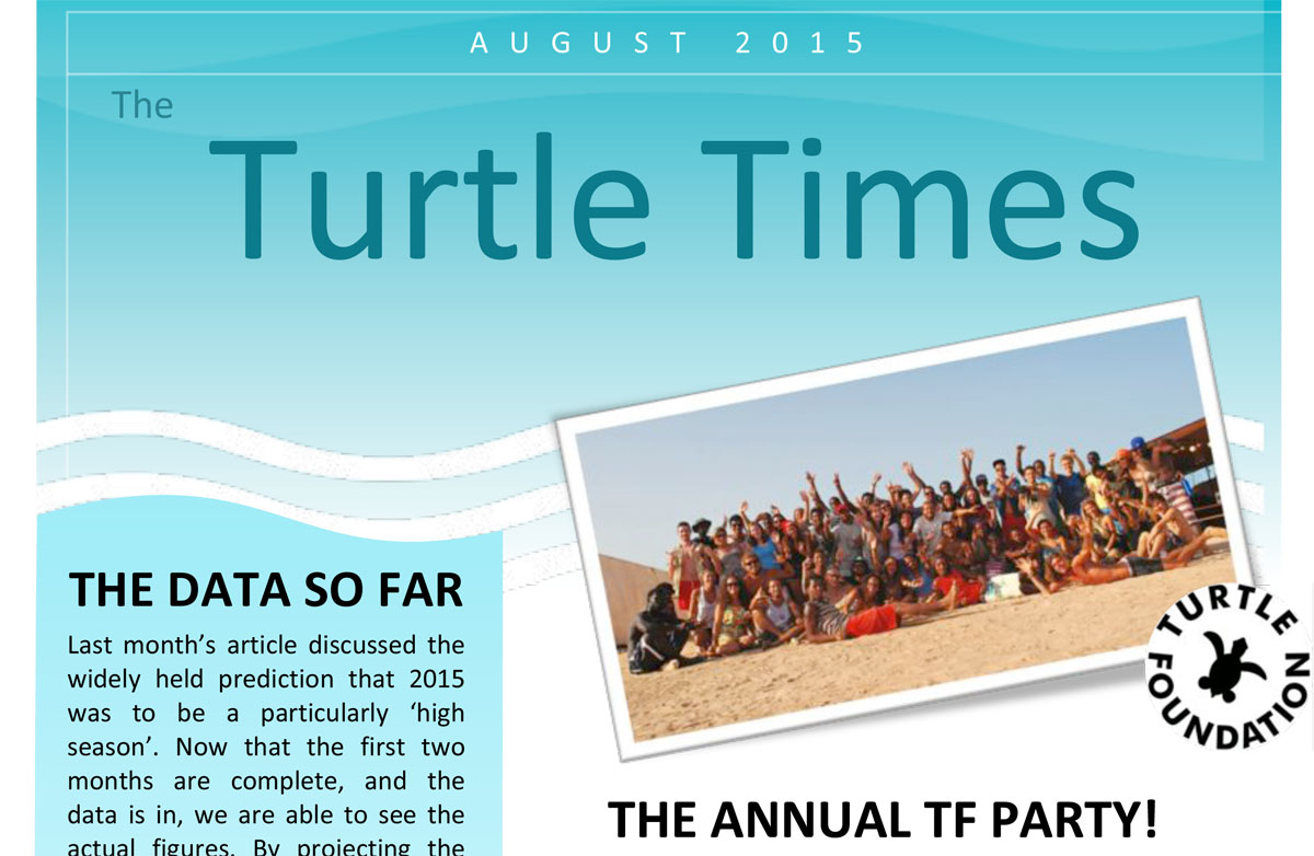 Turtle Times August 2015 first page