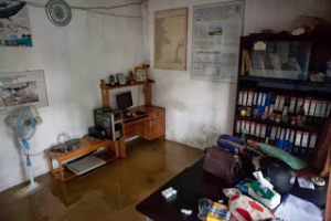 Flooded Turtle Foundation office in Tanjung Redeb