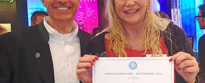 Winner of Turtle Raffle 2013