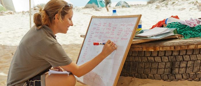 Camp coordinator on Lacacao beach camp