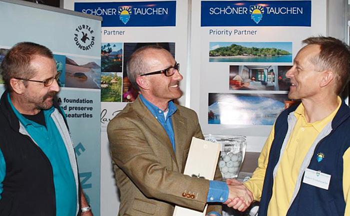 TF-Mitglied Dr. Frank Zindel bei Schöner Tauchen