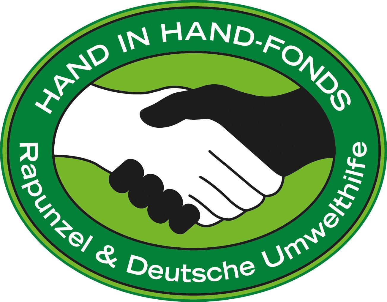Logo Deutsche Umwelthilfe, Hand in Hand-Fonds